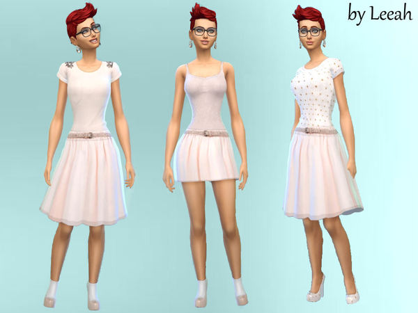 Skirts and Tops Pale Pink by leeah