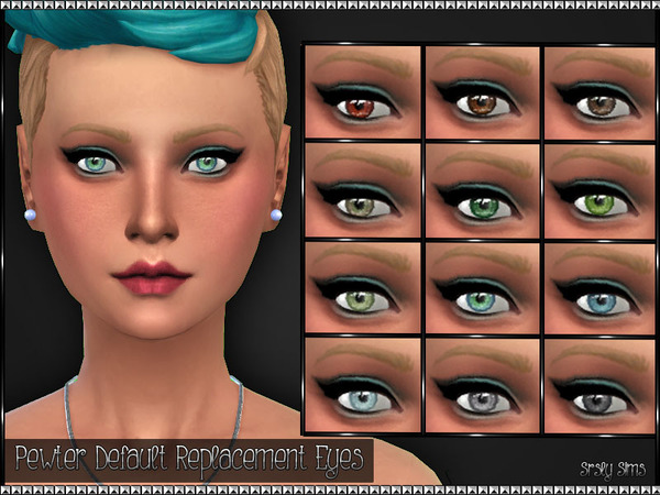 Pewter Default Replacement Eyes by SrslySims