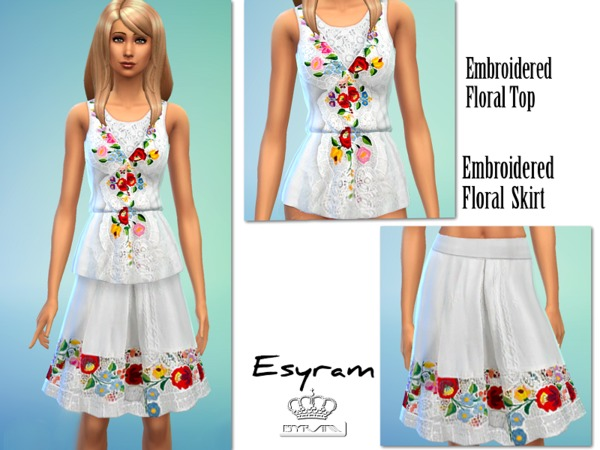 Embroidered Floral Set by EsyraM