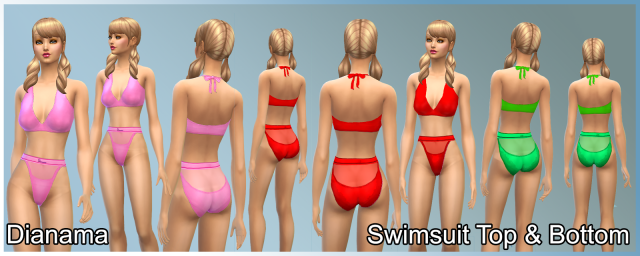 Swimsuit Top & Bottom by Dianama