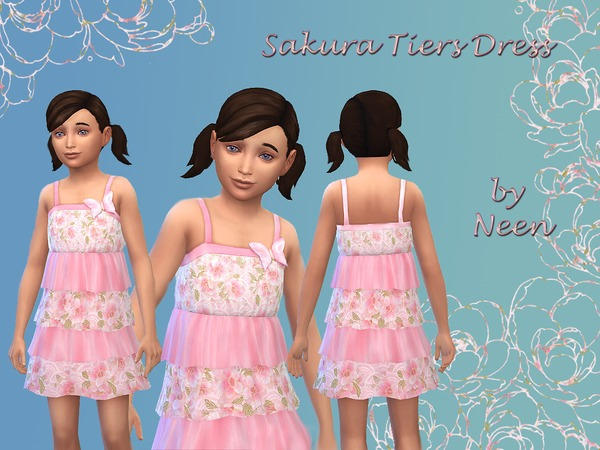 Sakura Tiers Dress by neenornina
