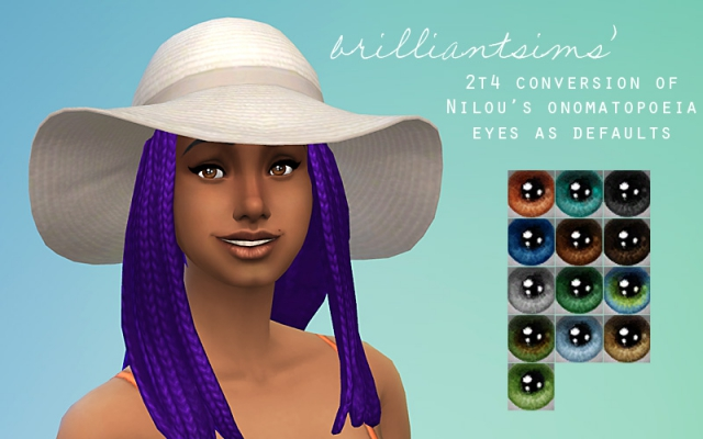 TS2 to TS4 - Nnnilou's Anomatopoeia Eyes by BrilliantSims