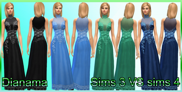 Sims 3 VS Sims 4 by Dianama