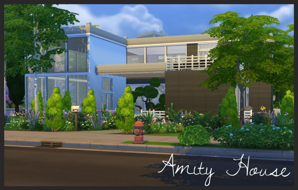 Amity House modern home by BaronessTrash