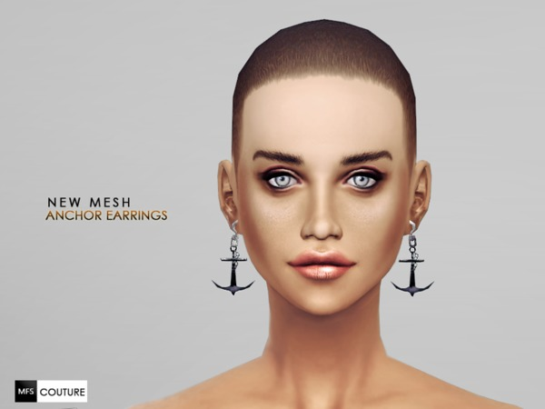 [NEW MESH] Anchor Earrings by MissFortune