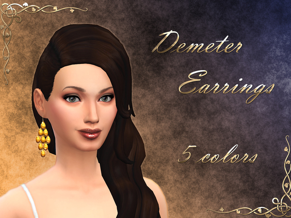 Demeter Earrings *New Mesh* 5 Colors by notegain