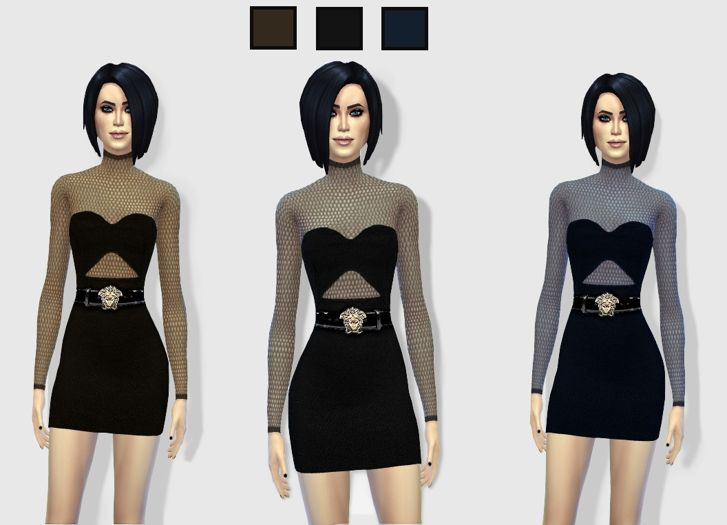 Cut Out Dress by Hautfashionsims4