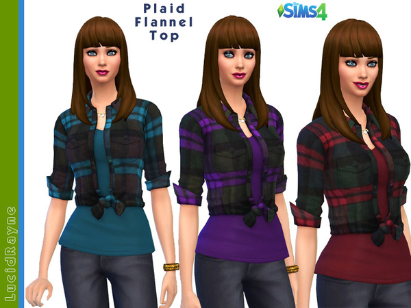 Plaid Flannel Top by LucidRayne