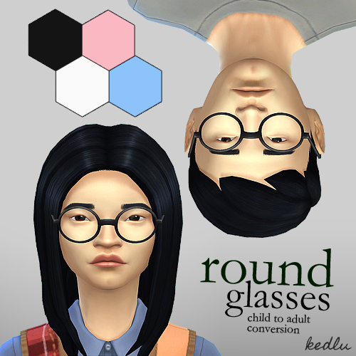 Round glasses - a child to adult conversion by KEDLU_