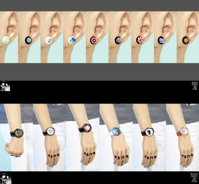 Ear acc + mr.jones watches by blackle