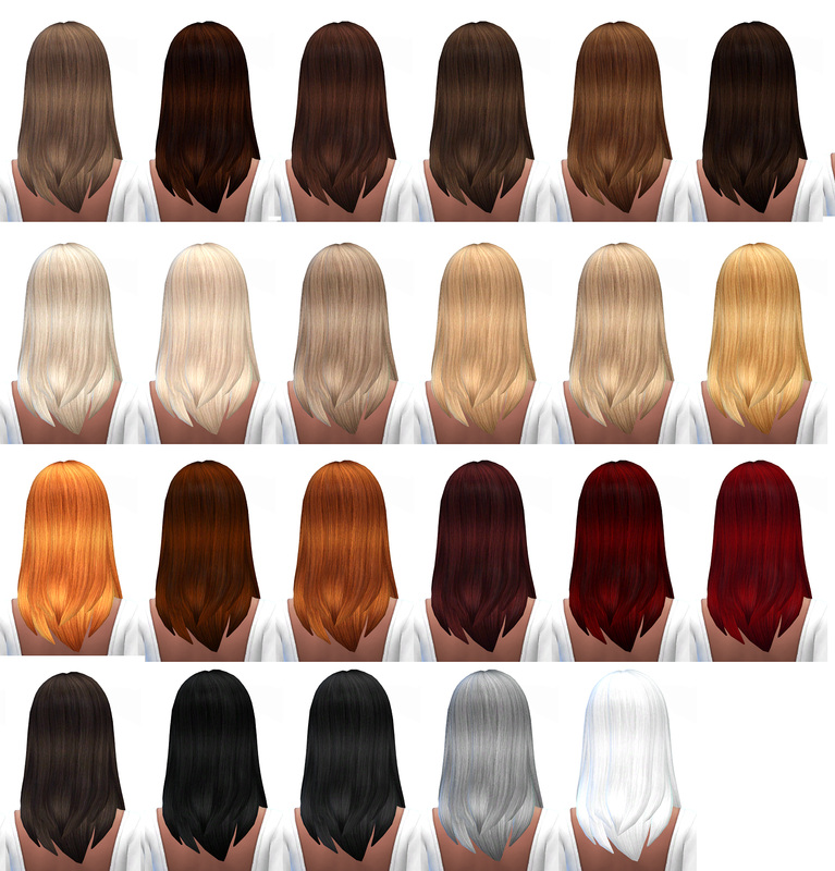 Default Hair Retexture by MissParaply