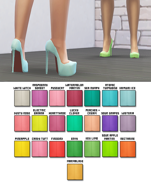 Sentate Shoe Recolors by Plumbobbles
