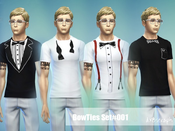 ShirtTeeShort Set Bowties#001 by dx8seraph