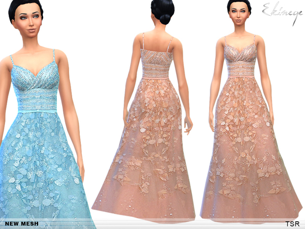 Embroidered Gowns - Set3 by ekinege