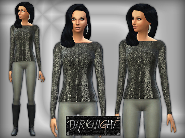 Blackless Sequined Top by DarkNighTt