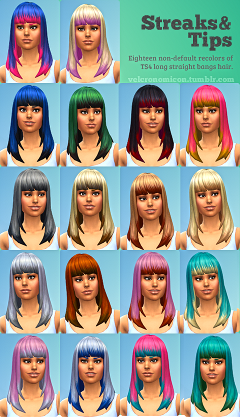Streaks & Tips Hair Recolors by Velcronomicon