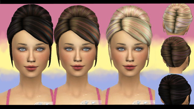 Princess Hair Recolors by Simstemptation