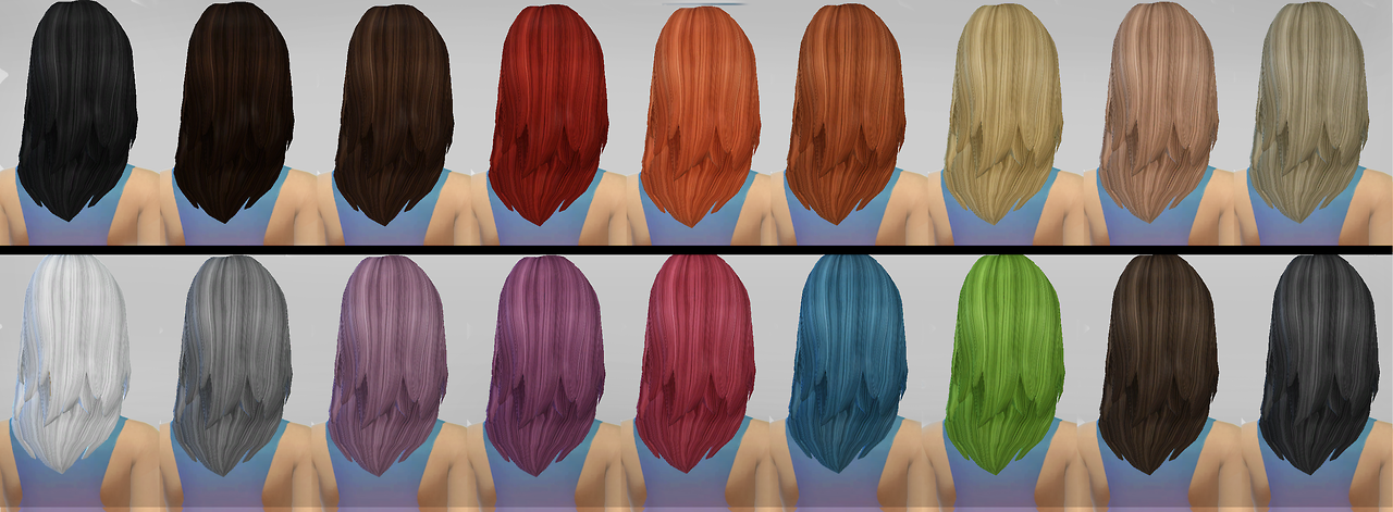 JSBoutique AF Hair 1 Retexture by Simaniacos