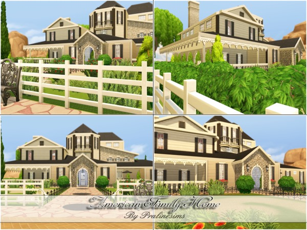 American Family Home by Pralinesims