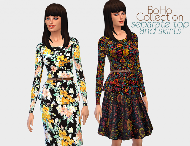 BoHo Collection Separate Top and Skirts by ELRsims