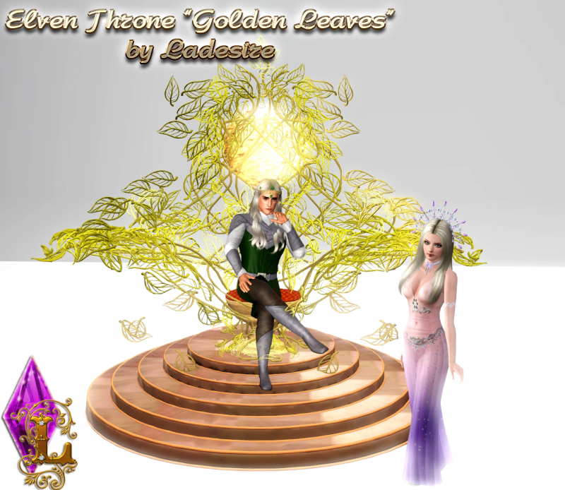 """Elven Throne """"Golden Leaves"""" by Ladesire"""
