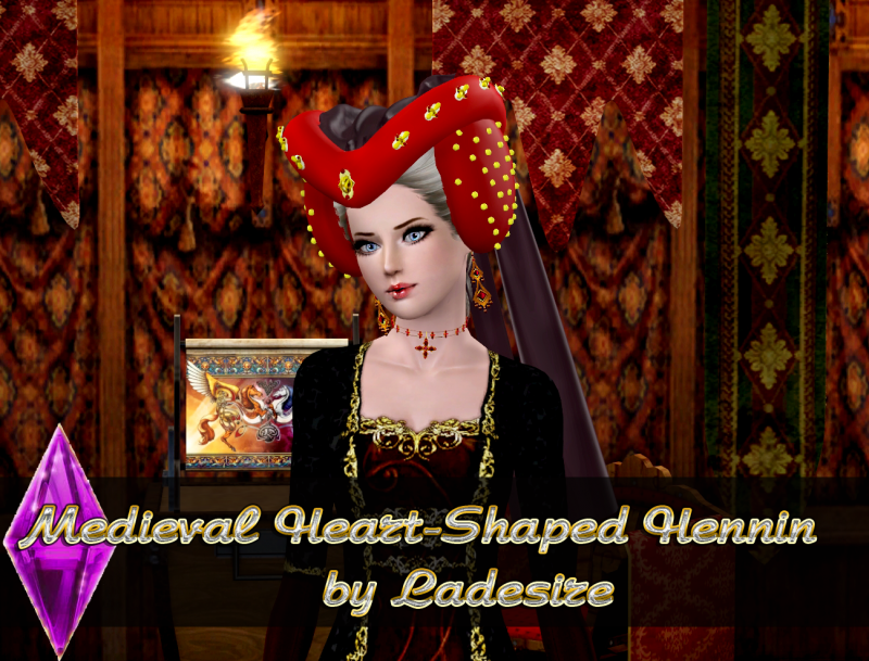 Medieval Heart-Shaped Hennin by Ladesire