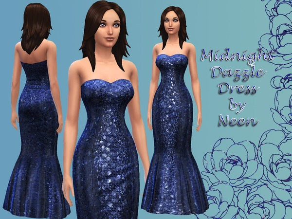 Midnight Dazzle Dress by neenornina