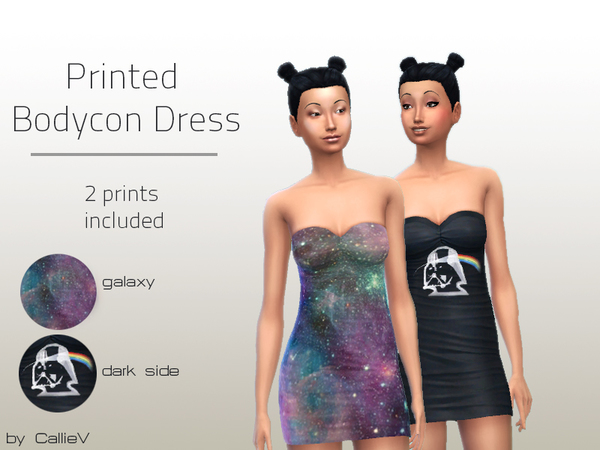 Printed Bodycon Dresses by Callie V