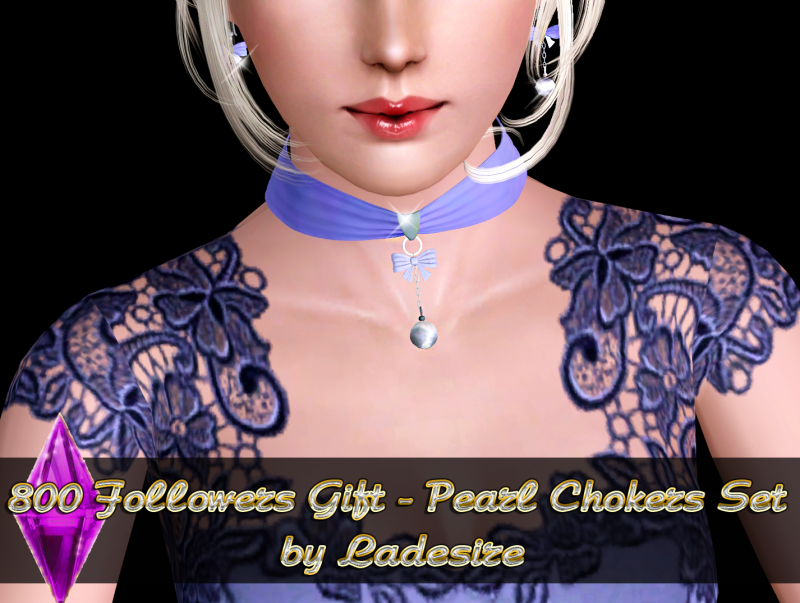 Pearl Choker Set by Ladesire