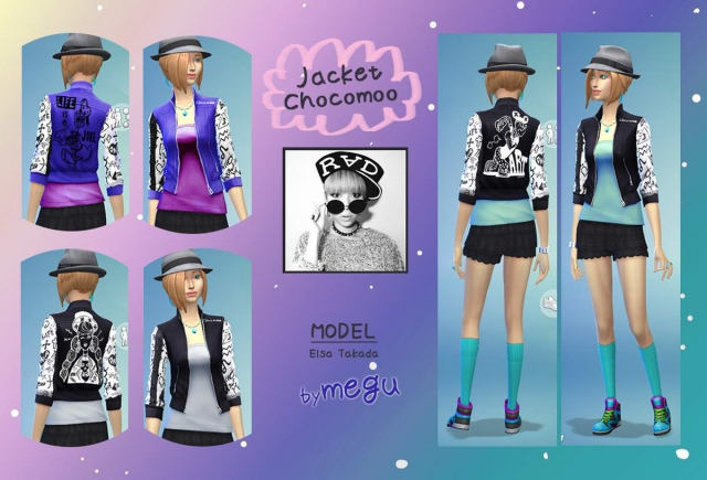 Jaket Sims4 Chocomoo by megu