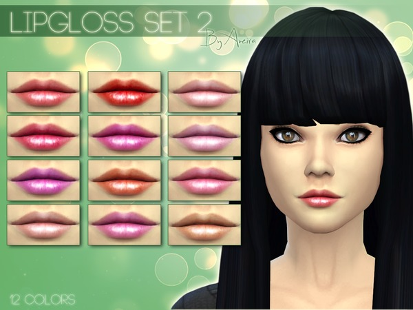 Lipgloss Set 2 - 12 Colors by Aveira