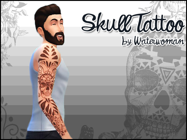 Skull Tattoo for Males by Waterwoman
