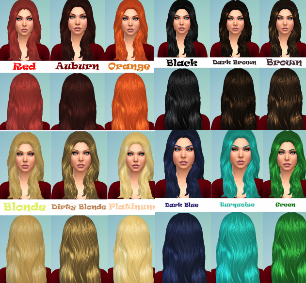 Adult Female Long Wavy DEFAULT Retextures by willow_geeks