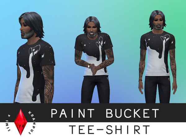 Paint Bucket Male teeshirt by SIms4Krampus