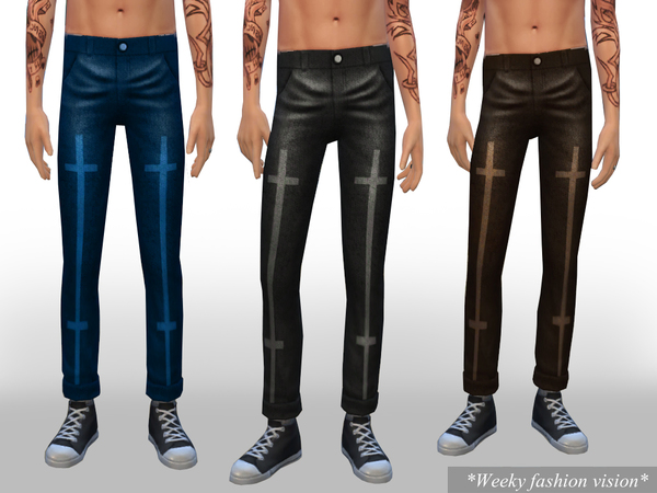 Cropped male jeans by Weeky