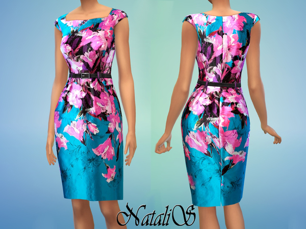 NataliS Silk-Cotton Printed Dress