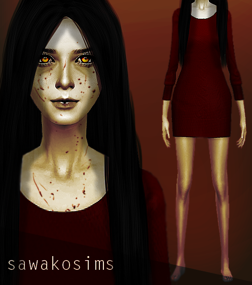 Alma wade inspired dress. (F.E.A.R) by SawakoSims