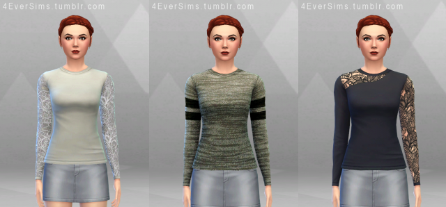 Long Sleeved Tees by 4EverSims
