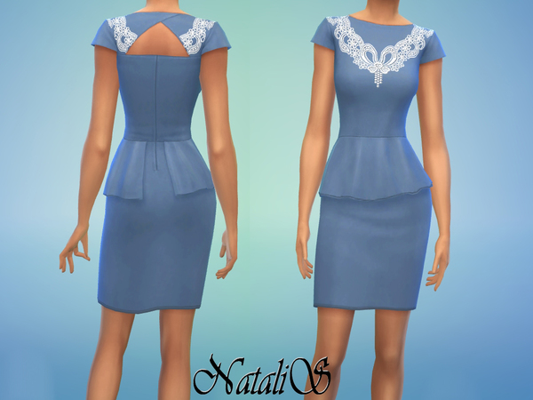 NataliS lace insert dress FA-YA