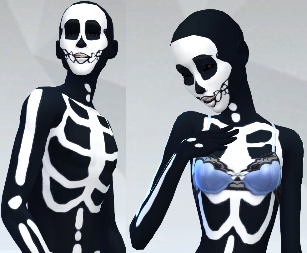Skeleton Tattoo Overlays by VoidSims