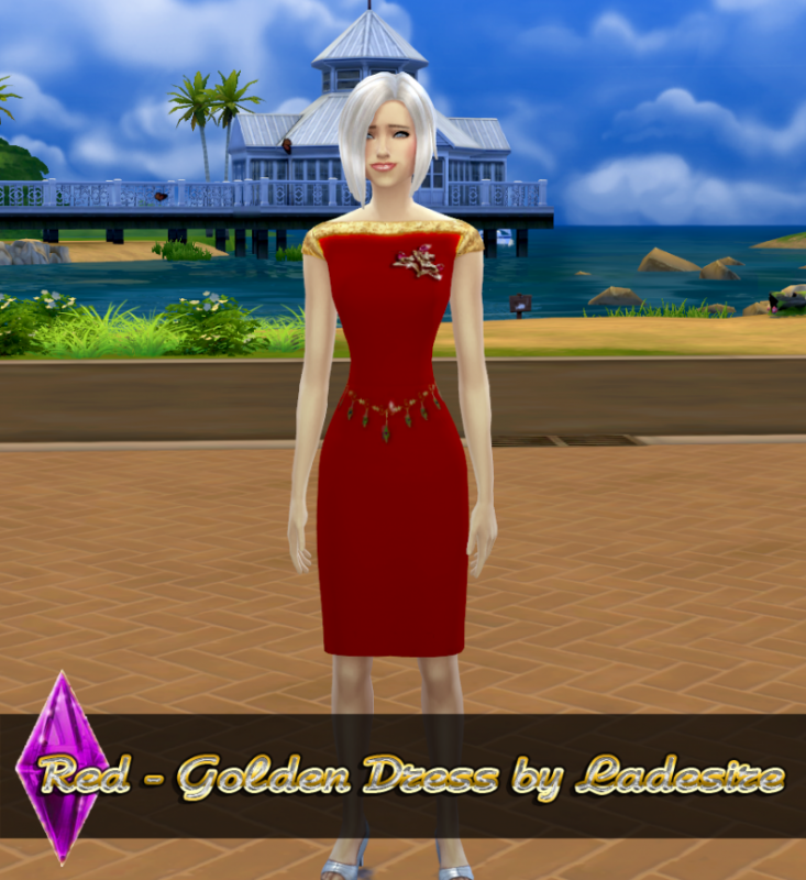 Red - Golden Dress by ladesire