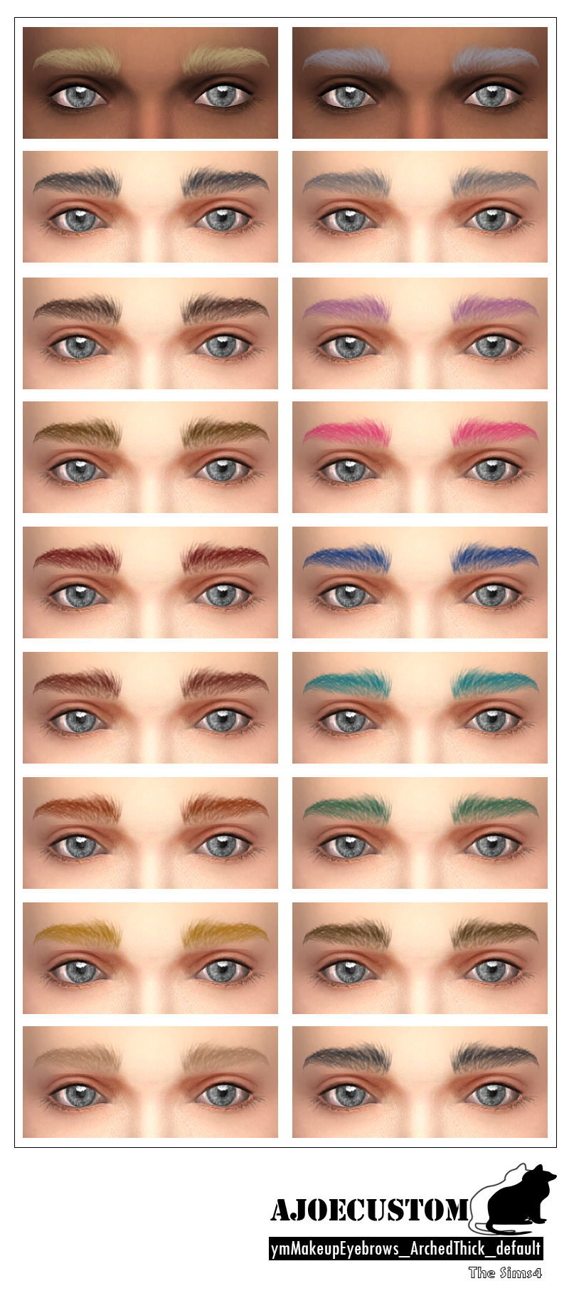 Eyebrows Arched Thick default for Males by AJoeCustom