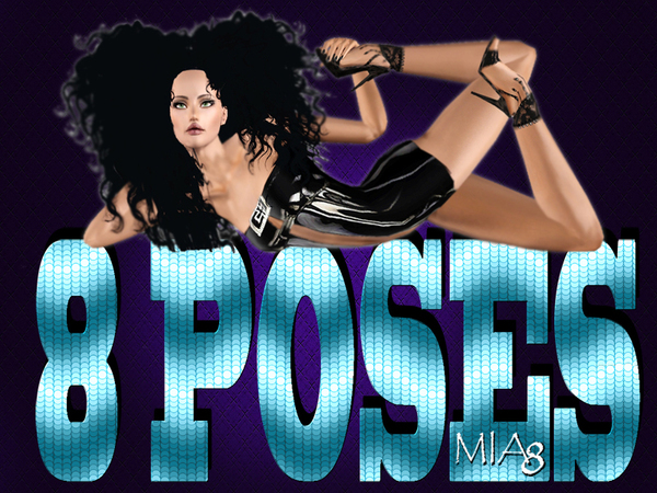 8 poses on the floor by Mia8