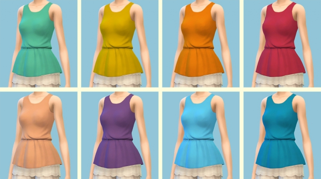 Peplum Blouse Recolors by Whirlyflower