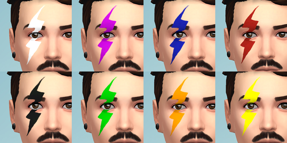 TS3 to TS4 Thunder Facepaint by Brainstrip