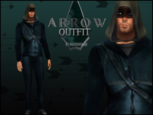 Arrow Outfit for Males by Waterwoman