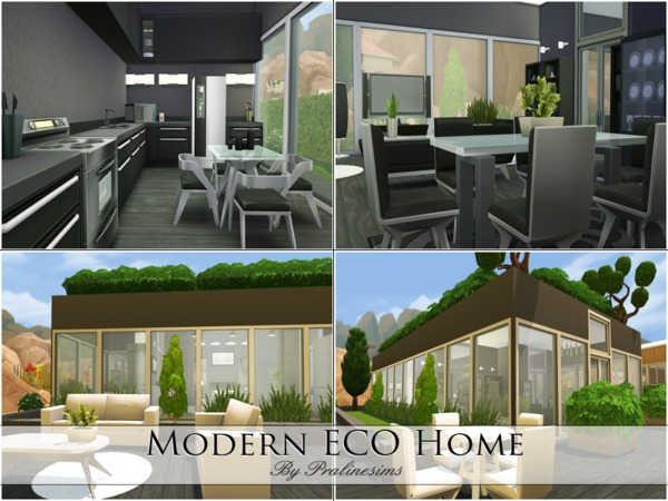 Modern Eco Home by Pralinesims