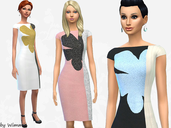 Sheath Dress with bloom by Wimmie