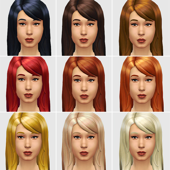 LongStyle DePoofed Hair (AKA The Jessica) by LumiaLoverSims