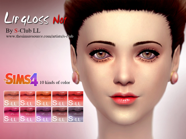 LL thesims4 Lipstick LowSheen 01 by S-Club